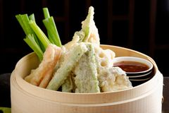 Japanese tempura with vegetables Royalty Free Stock Image