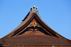 Japanese thatch roof Royalty Free Stock Image