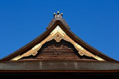 Japanese thatch roof Stock Image