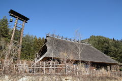 Japanese thatched roof house Royalty Free Stock Photo