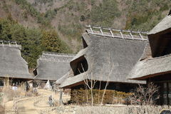 Japanese thatched roof house Royalty Free Stock Photos