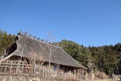 Japanese thatched roof house Stock Photography