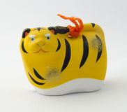 Japanese tiger clay bell Stock Photo