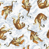 Japanese tiger pattern Stock Photo