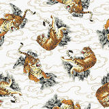 Japanese tiger pattern Royalty Free Stock Images