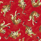 Japanese tiger pattern Stock Photos