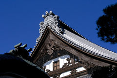 Japanese tile roof Stock Photo