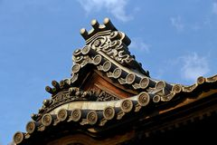 Japanese tile roof Royalty Free Stock Photos
