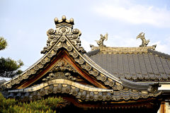 Japanese tile roof Stock Photography