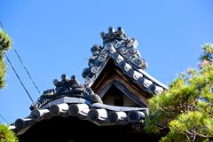 Japanese tile roof Royalty Free Stock Photo