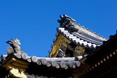 Japanese tile roof Royalty Free Stock Images
