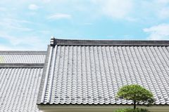 Japanese tiled roof Stock Photography