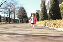Japanese toddling girl Royalty Free Stock Images
