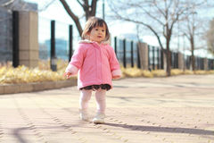 Japanese toddling girl Stock Photography