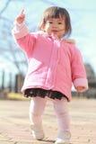 Japanese toddling girl Stock Photos