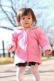 Japanese toddling girl Stock Images