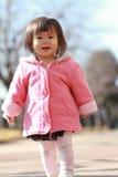 Japanese toddling girl Stock Photo
