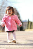 Japanese toddling girl Royalty Free Stock Photography