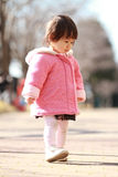 Japanese toddling girl Royalty Free Stock Photos