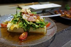 Japanese tofu salad Stock Photo