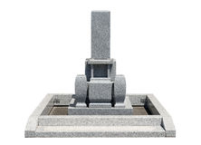 Japanese tomb stone Stock Photo