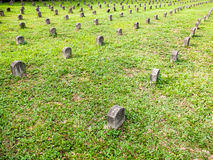 Japanese tombs in Malaysia. Orderly rows of japanese tombs Stock Image