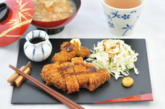 Japanese Tonkatsu Meal Stock Image