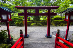 Japanese torii gate Royalty Free Stock Image