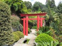 Japanese Torii gate stock photo