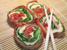 Japanese Tortilla Rolls Stock Image