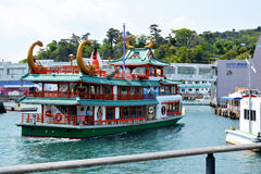 Japanese Tour Boat. Tour ferry near Toba in the Mie prefecture of Japan Royalty Free Stock Photo