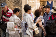 Japanese tourists Florence Royalty Free Stock Image