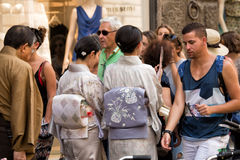 Japanese tourists Florence Stock Photography