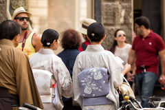 Japanese tourists Florence Royalty Free Stock Images