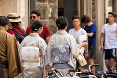 Japanese tourists Florence Stock Image