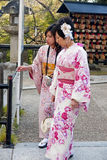 Japanese tourists in temples Stock Photography