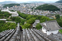 Japanese town from above Royalty Free Stock Images