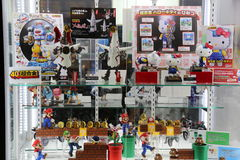 Japanese Toys on Display Royalty Free Stock Image