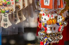 Japanese tradition souvenirs: Maneki Neko -Lucky Cat royalty free stock images
