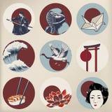Japanese tradition style Illustration isolated Royalty Free Stock Photos