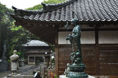 Japanese traditional architecture, Buddhist temple Stock Photography