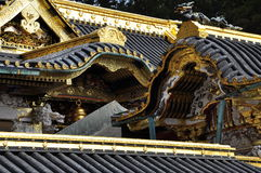 Japanese traditional architecture, golden roof Stock Images