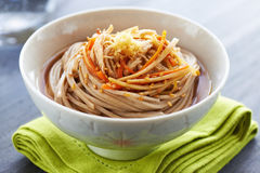 Japanese traditional buckwheat noodle stock images