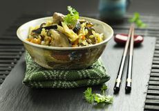 Japanese traditional dish Gomoku gohan Stock Images