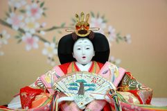 Japanese Traditional Doll - female. Japanese Traditional Doll, known as Hina Doll Stock Photo