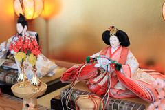 Japanese traditional doll on Hina festival. Hina doll Japanese traditional doll on Hina festival Royalty Free Stock Images