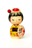 Japanese traditional doll isolated Royalty Free Stock Photo