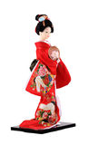 Japanese traditional doll and origami isolated Royalty Free Stock Image