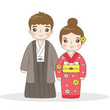 Japanese traditional dress Royalty Free Stock Photos