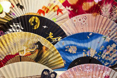 Japanese traditional fans Stock Images